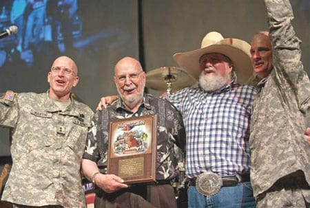 (L-R): Major General Gregg Martin, Rosenthal, Daniels and Command Sgt. Major Corbly.