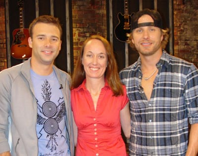 (L-R): CMT Host Lance Smith; Director of Public Affairs, CMT One Country Lucia Folk; and Dierks Bentley; Photo: Ben Wilder