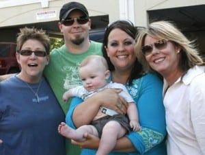 (L-R): Bonnie Baker, Chris Tompkins, Hayes Tompkins, Jessica Tompkins, Deanna Bryant