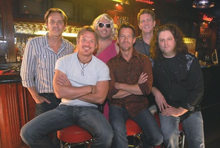 "Back (L-R): Universal Records South head Fletcher Foster, ""Bobbi"", manager Greg Hill; Front (L-R): Phil Vassar, actor James Denton, director Eric Welch"