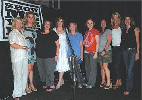 ASCAP recently sponsored a 10 year birthday bash for songplugger group Show Me Your Hits. The event was held at Dan McGuinness Pub near Music Row and hosted many members of the A&R community, as well as the organization's founding and current members. Pictured (L-R): Connie Bradley, Kelly King, Cyndi Forman, Liz O'Sullivan, Kim Wiggins, Alicia Pruitt, Carla Wallace, Stephanie Greene, Kerri Edwards