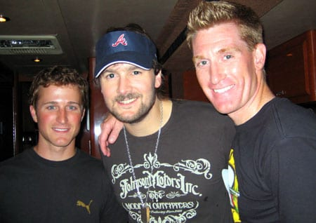 "Capitol Records Nashville artist Eric Church was proud to host Kasey Kahne, driver of the #9 Budweiser Dodge in the NASCAR Sprint Cup Series, and ESPN 's lead NASCAR reporter Marty Smith at his sold-out show in Johnson City, TN last night. Church will be part of a feature on Kahne that is slated to air on ESPN's pre-race show on August 2.    pictured, l to r: Kahne, Church, Smith  Tune in to see Eric Church Perform ""Ain't Killed Me Yet"" on  The Late Late Show with Craig Ferguson on Monday at 12:35am ET/PT on CBS!"