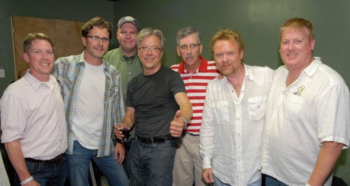 Pictured (L-R): ASCAP's Earle Simmons, Sea Gayle's Chris DuBois and Mike Owens, Foster, ASCAP's Herky Williams, Lee Roy Parnell and ASCAP's Mike Sistad