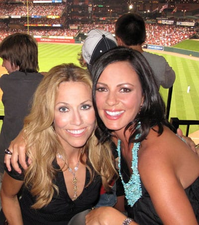 """There were stars on the field and in the stands for this week's 80th Major League Baseball All-Star Game, which included musical performances by friends and fellow celebs Sara Evans and Sheryl Crow.  Evans, who lit up the 7th inning stretch with a performance of """"God Bless America,"""" is poised to impact country radio this coming Monday with her incredible new single, """"Feels Just Like a Love Song."""" Photo credit: Stephen Navyac"""