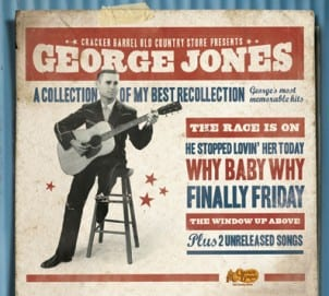 "To help celebrate Cracker Barrel's 40th year anniversary, George Jones' newest album goes on sale August 31 exclusively at all Cracker Barrel locations. A Collection Of My Best Recollection has 12 tracks including two songs that have never been released before, ""I Don't Want To Know,"" and ""I'm A Long Gone Daddy."""