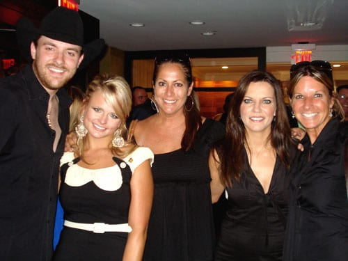 While gearing up for the September 29th release of her highly anticipated third album, Revolution, Miranda Lambert hosted the People Country Issue celebration party at Nashville's Hutton Hotel.  Among a few celebrities joining to celebrate was RCA Nashville's Martina McBride and Chris Young.   Pictured (l-r): Chris Young; Lambert; Lisa Ramsey-Perkins, Sen.Director A&R Sony Music; Martina McBride; Renee Bell, EVP A&R Sony Music.