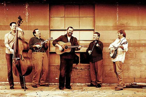 The Dan Tyminski Band (L-R) Barry Bales, Adam Steffey, Dan Tyminski, Justin Moses, Ron Stewart