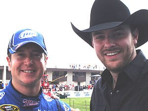 Pictured at Michigan International Speedway: NASCAR driver Kurt Busch and Young