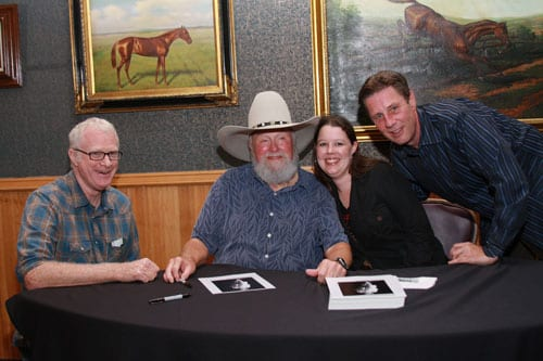 HFA Publisher Services Team Lead Danielle Boone was especially pleased to be on hand to applaud her former boss – she worked for CDB Music, LLC prior to joining HFA. Pictured from left to right: Bob Regan (Legislative Chair NSAI and songwriter), Charlie Daniels, Danielle Boone (HFA Publisher Services Team Lead) and Barton Herbison (Executive Director, NSAI). Photo credit: Bev Moser