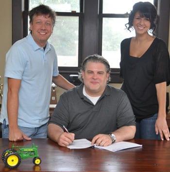 (L-R): Jason Krupek/Big Tractor's General Manager; Jason Matthews; Cynthia Anderson/Big Tractor's Creative Director; Photo credit: Steven C. Knapp / Knapp Time Creative