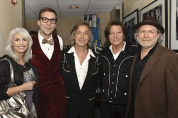 (l-r) Emmylou Harris, Justin Townes Earle, Jim Lauderdale, John Fogerty & Buddy Miller photo credit: Erika Goldring