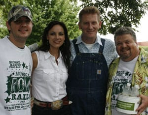 (L-R) Jeremy McComb, Joey + Rory and Craig Wiseman