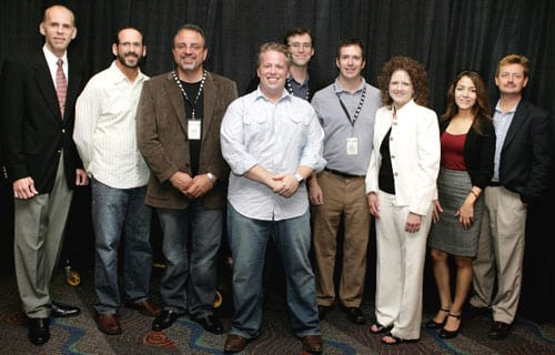 "(Pictured L to R):  Eddie Stubbs (WSM-AM broadcaster), Joe Limardi (WSM-AM operations manager), John Walker (WSM-AM general sales manager), Jesse Goldstein(Loveless Cafe), Craig Havinghurst (writer), Todd Mayo (producer of ""Music City Roots: Live from the Loveless Cafe""), Laurie Dashper (stage manager for ""Music City Roots: Live from the Loveless Cafe""), Monica Romero (director of marketing for Vietti Chili, a sponsor of ""Music City Roots: Live from the Loveless Cafe"") and Chris Kulick (WSM-AM general manager) – photo by Mary Claire Crow"
