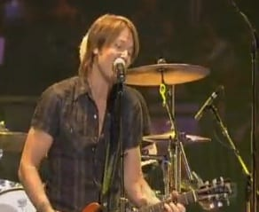 Keith Urban at the Aria Awards