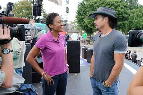 ABC's Robin Roberts talks to Tim McGraw for the TV special.