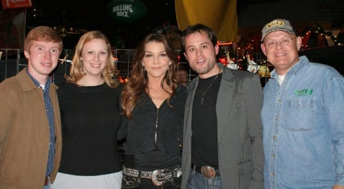 Pictured prior to Gretchen's performance are: (l. to r.) – WIVK on-air personality Josh Blanchard; Catherine Howell – PD WNOX/News Director; Wilson; WIVK on-air personality Jack Ryan; WIVK OM/PD Mike Hammond. Photo: Cindy Arnold
