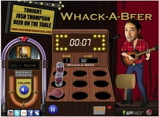 """Thompson's debut single, """"Beer On The Table,"""" was the inspiration for his """"Whack-A-Beer"""" game on his new web site. www.joshthompsonofficial.com lets visitors view videos and upload photos,follow Josh on Twitter, check on upcoming events, and interact in the online forums. Fansalso have the ability tostreamand purchaseall four tracks from Thompson's newly released self-titled digital EP."""