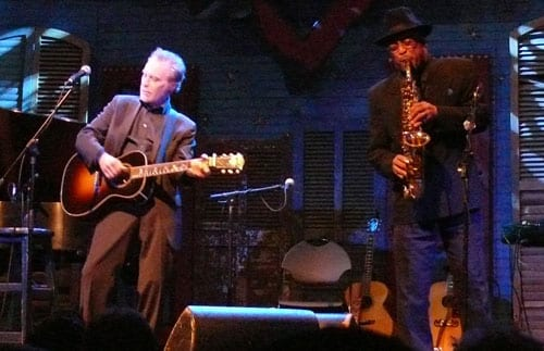 J.D. Souther and Red Morgan performing