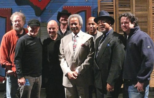 (L-R): Don Schlitz, Greg Barnhill, Dennis Matkosky, Thom Sheppard, Allen Toussaint, Chuck Perkins, Red Morgan and Jim McCormick
