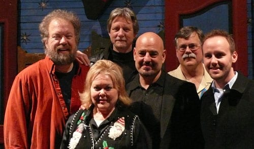 (L-R): Don Schlitz, ASCAP's Pat Rolfe, ASCAP's Ralph Murphy, Dennis Matkosky, Bud Tower and Rusty Gaston