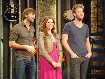 "Lady A's Hillary, Charles and Dave are the guest hosts on this week's installment of ""CMT Top 20 Countdown,"" premiering today (1/15). Photo (l-r): Dave Haywood, Hillary Scott, and Charles Kelley. Photo Credit: Brian Bayley"