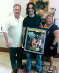 (L-R) Gary Overton (Chairman & CEO, Sony Music Nashville), Jake Owen and Alaina Vehec (Associate Director, Digital Sales, SMN).