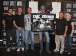 "EMI Records Nashville's Eric Church celebrated the RIAA Platinum certification of his album CHIEF, as well as, his most recent #1 single, ""Springsteen,"" yesterday at Marathon Music Works. Church was presented with a platinum plaque, a platinum special edition of Jack Daniel's Single Barrel Tennessee Whiskey. UPtown's Smoke Shop also created a platinum wrapped cigar for guests to mark the occasion and trucks were on hand from Carl Black Chevrolet. Pictured (L-R): Producer Jay Joyce, Q Prime Management's John Peets, Capitol Nashville's Steve Hodges, Eric Church, Capitol Nashville's Tom Becci, and Capitol Nashville's Cindy Mabe. Photo: Alan Poizner"