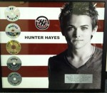 Hunter Hayes Presents WMN With Plaque