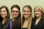 Pictured (L-R): Stacy Eaton-Carter, Elizabeth Vazquez, Bailey Groetsch, Tracy Rode
