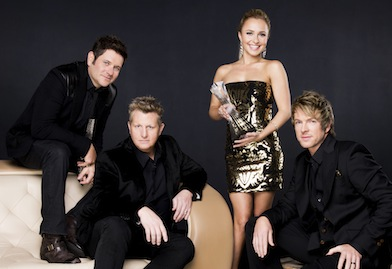 Hosts Rascal Flatts and Hayden Panettiere