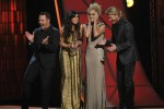 "Little Big Town accepted its first CMA Awards for Vocal Group and Single of the Year (""Pontoon"") last night (11/1). Photo: Donn Jones"