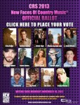 Voting Opens for CRS 2013 New Faces Show