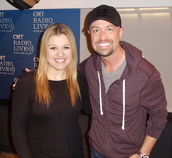 Pictured (L-R): Kelly Clarkson and Cody Alan. Photo: Dingo O'Brien