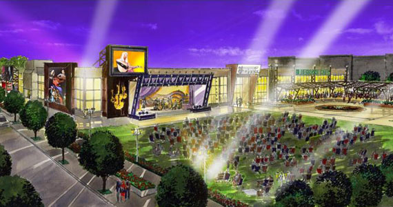 Preliminary design for the new International Bluegrass Music Center.