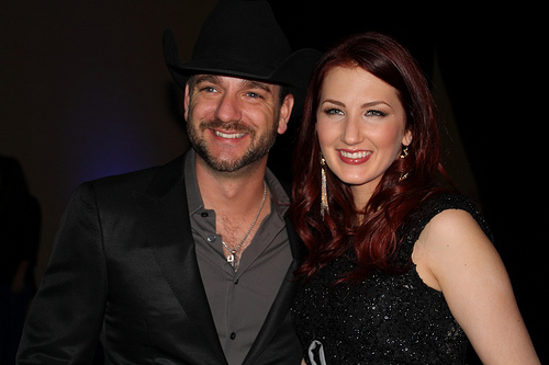 Craig Campbell and Katie Armiger at the after party.