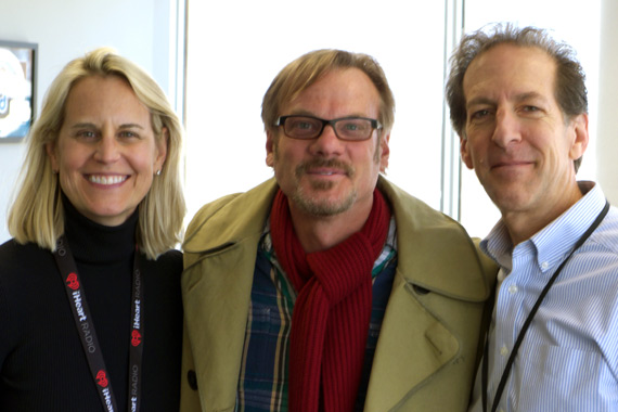 """Rodeowave Entertainment's Phil Vassar took his new single, """"Love Is Alive,"""" to 98.7 WMZQ in our nation's capital. Pictured (L-R): Meg Stevens (Clear Channel DC/Baltimore OM); Vassar; and Paul Donovan (WMZQ MD)."""