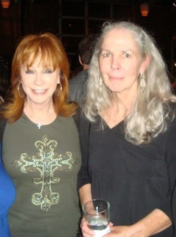 Janet Rickman with Reba McEntire in 2012.