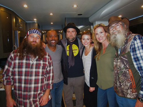 Pictured (L-R): Willie Robertson, Darius Rucker, Jim Wright, Sadie
