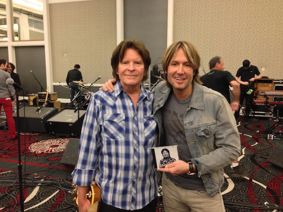 Pictured (L-R): John Fogerty and Keith Urban.