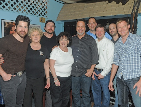 Pictured (L-R): JT Hodges, Karen Sturgeon, Erik Dylan, Judy Harris, Doug Johnson, Hunter West, Bubba Moneypenny, Mason Douglas, Cory Batten.