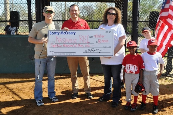 Pictured (L-R): McCreery, John Ray Clemmons, Nashville RBI Board Chairman, and JoLyn Hilliard, Nashville RBI Executive Director.