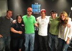 Pictured (L-R): Lunchbox, Marisa, Brandon Childers, Kip Moore, Bobby Bones and Amy
