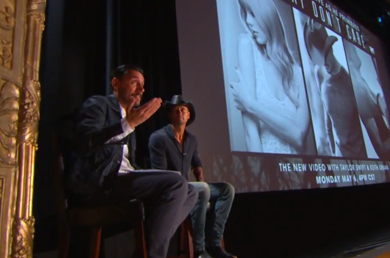 "Tim McGraw and ""Highway Don't Care"" video director Shane Drake during the Google+ hangout."