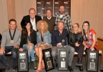 Pictured are, back row (l-r): Capitol Nashville's Mike Dungan, BMI's Jody Williams, and EMI Blackwood Music's Josh Van Valkenberg; front row (l-r): Little Big Town's Jimi Westbrook, Karen Fairchild, Kimberly Schlapman and Phillip Sweet; and co-writers Delta Maid and Natalie Hemby. Photo by Rick Diamond