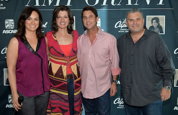 Pictured (L to R): LeAnn Phelan (ASCAP), Amy Grant, Michael Martin (ASCAP) and Peter York (President, Capitol Christian Music Group Label Group). (Photo by Rick Diamond/Getty Images for Amy Grant)