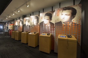 Inside the Johnny Cash Museum.