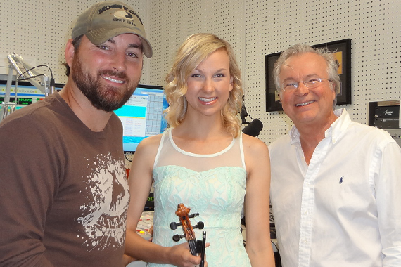 "Kari & Billy spent yesterday morning visiting about their new single, ""Play Me A Fiddle Song,"" with WDKN's Dale Turner in Dickson, TN."