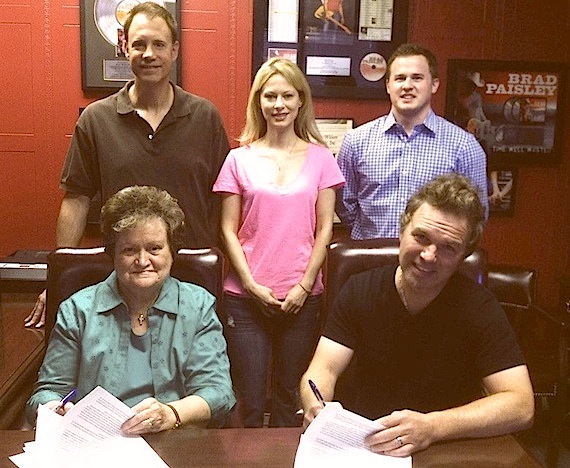 Pictured (L-R, Back row): Shane Barrett, Amy Rathburg, Jason Turner. (L-R, Front row): Ann Wilson and Buck Johnson