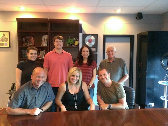 Pictured (Front row, L-R): BLA's Kevin Neal, Gwen Sebastian,  BLA's Brian Fee. Pictured (Back row, L-R):  BLA's Kat Boggs,  Austin Neal,  Zinnia Martinez  and David Kiswiney.