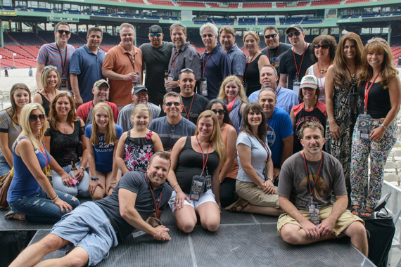 Before his second sold-out show at Fenway Park, Jason Aldean gave Country radio a peek at his view from the stage. In attendance were KSD, KTTS, KWNR, McVay Media, WCKT, WKLB, WNOE, WPOR, WQNU, WRNS, WRNX, WSOC, WTHD, WUSN.